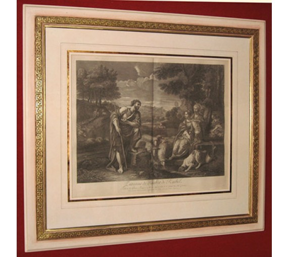 Jacob meeting Rachel Well engraving Pier Francesco Mola