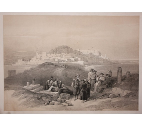 Jaffa David Roberts lithograph Holy Land