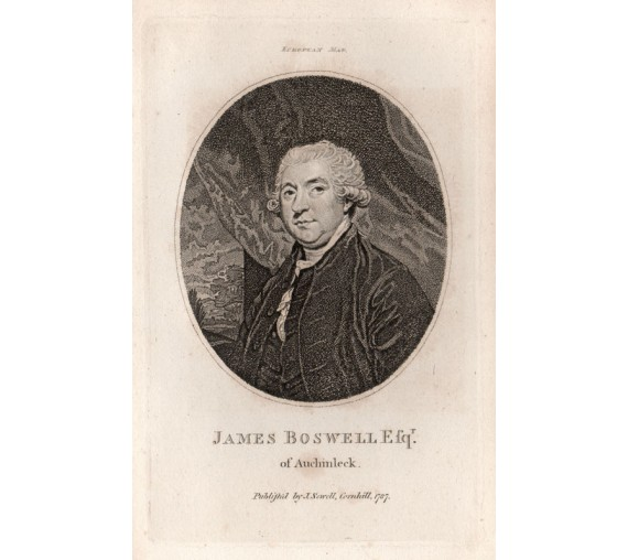 James Boswell portrait engraving print