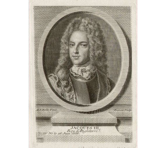 James III Stuart King portrait engraving print