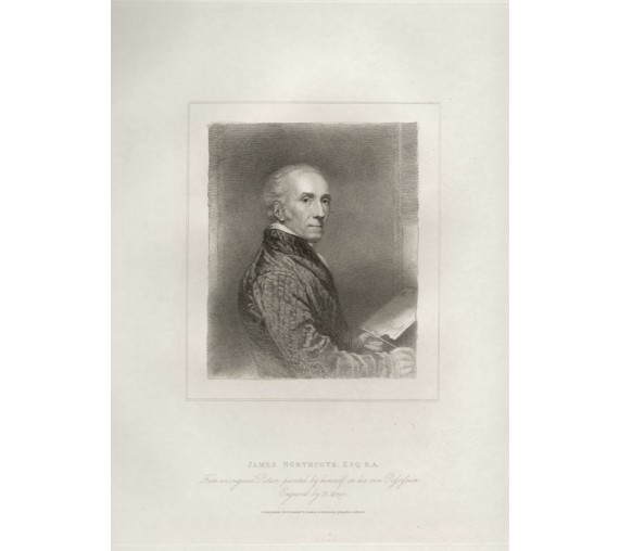 James Northcote self portrait engraving print