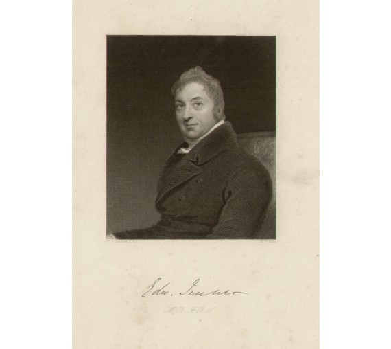 Edward Jenner portrait engraving doctor physician