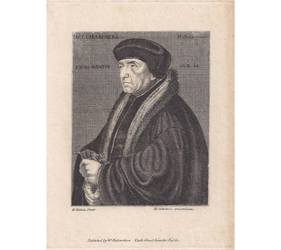 John Chambre portrait engraving physician Holbein