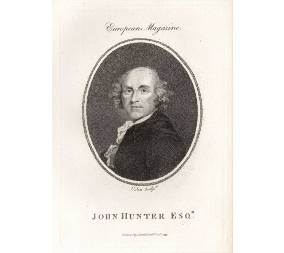 John Hunter medical portrait surgeon Josi engraving