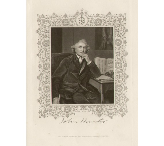 John Hunter portrait engraving surgeon physician Reynolds
