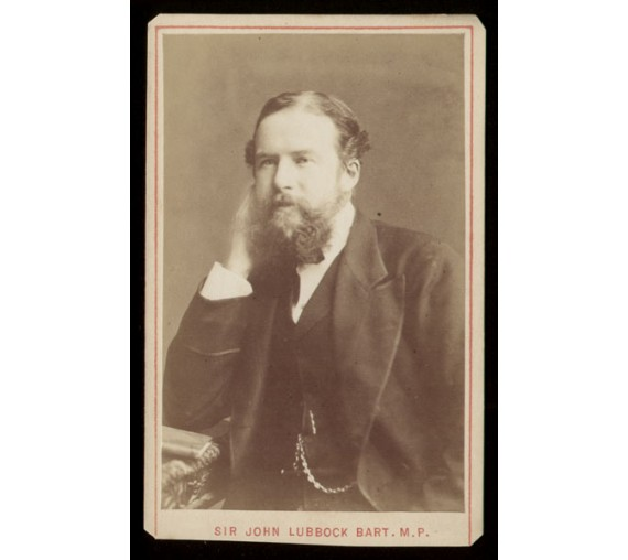 John Lubbock portrait carte visite CDV photograph evolutionist
