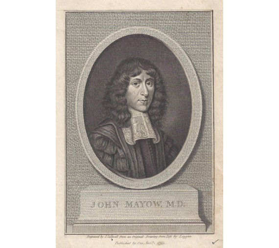 John Mayow portrait engraving doctor physician Loggan