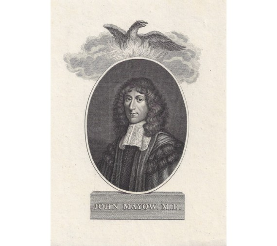 John Mayow portrait engraving doctor physician