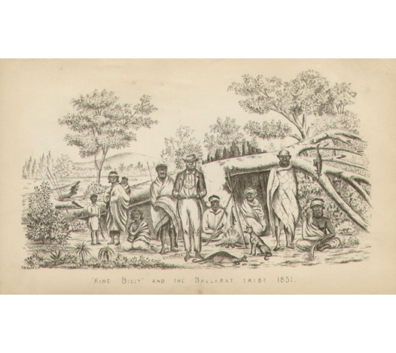 King Billy Ballarat Tribe 1851 Photolithograph Niven