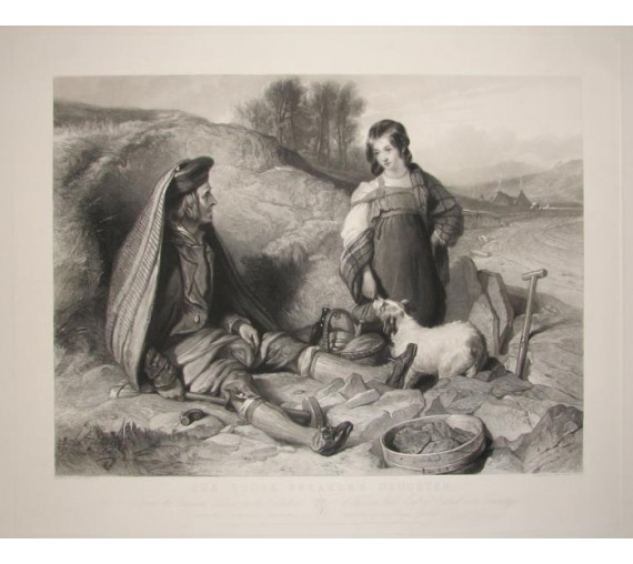 Stone Breakers Daughter engraving John Burnet Edwin Landseer