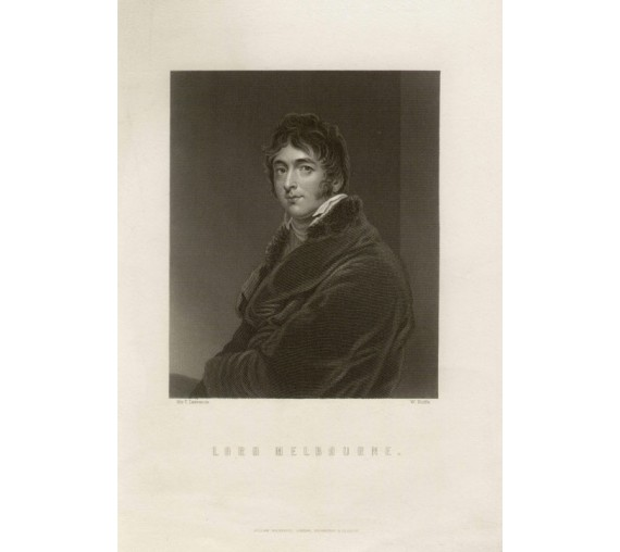 Lord Melbourne portrait engraving Thomas Lawrence