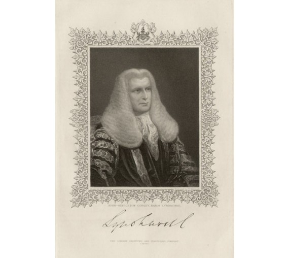 copley baron lyndhurst legal lawyer judge engraving