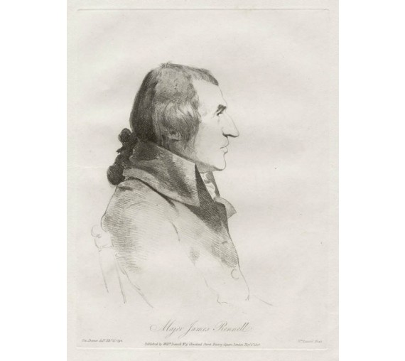 James Rennell portrait engraving Dance Daniell India