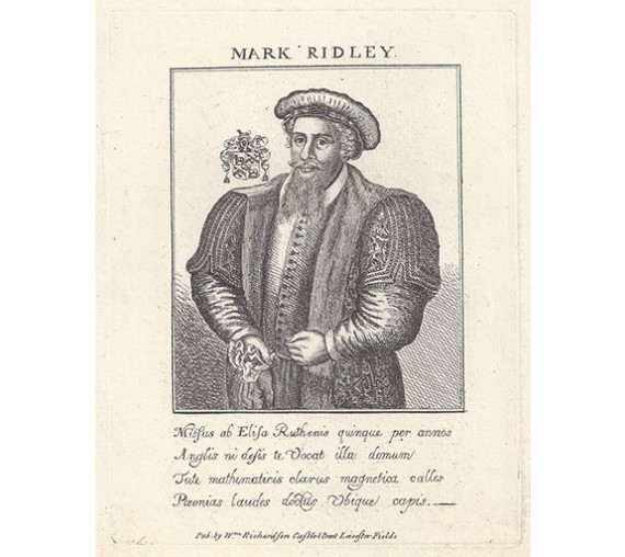 Mark Ridley portrait engraving doctor physician Russia
