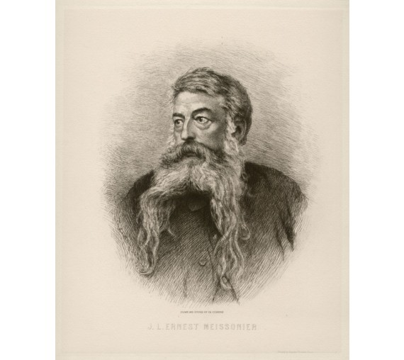Ernest Meissonier portrait engraving etching