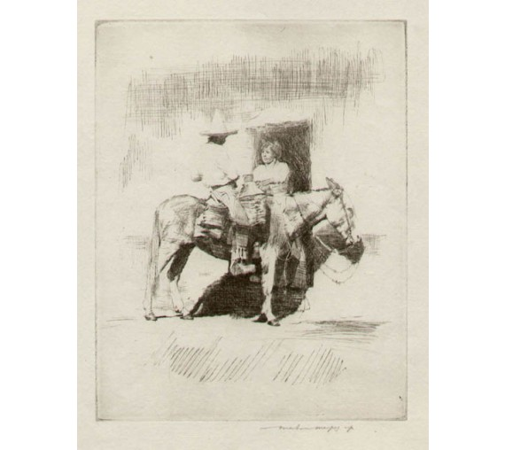 Mexican Mortimer Menpes etching