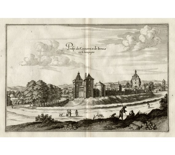 Chateau Irrois Champagne Merian French engraving