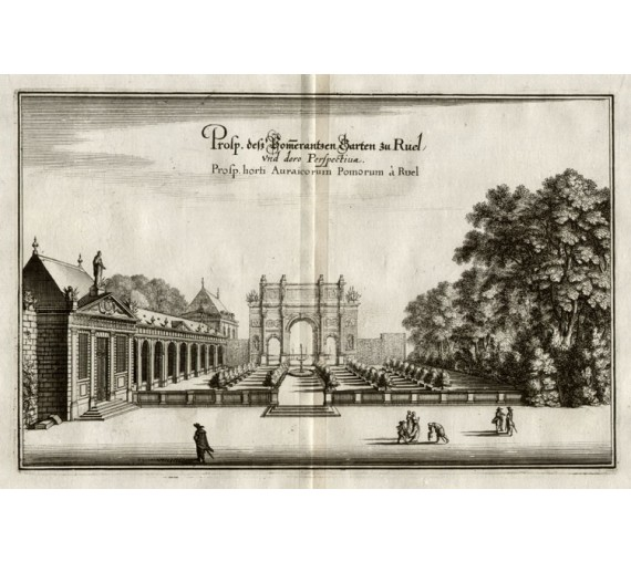 Gardens Ruel Merian French chateau engraving