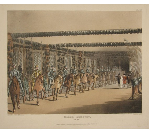 Horse Armoury Tower Rowlandson Mircocosm London aquatint