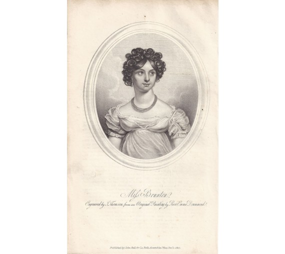 Elizabeth Yates Brunton portrait engraving actor