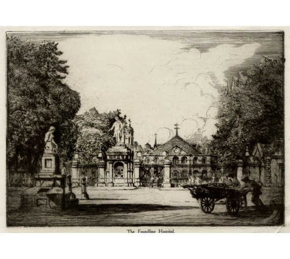 Foundling Hospital London William Monk etching