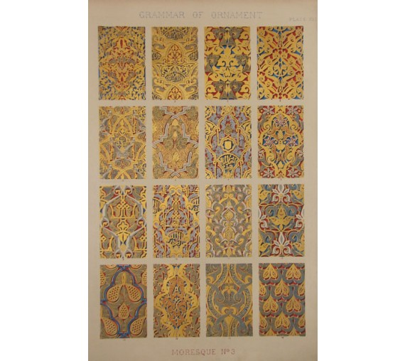 Grammar of Ornament Moresque owen jones chromolithograph moorish