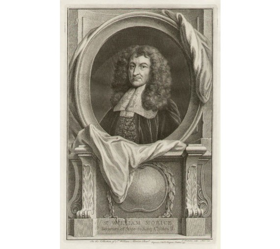 William Morice portrait engraving print Houbraken
