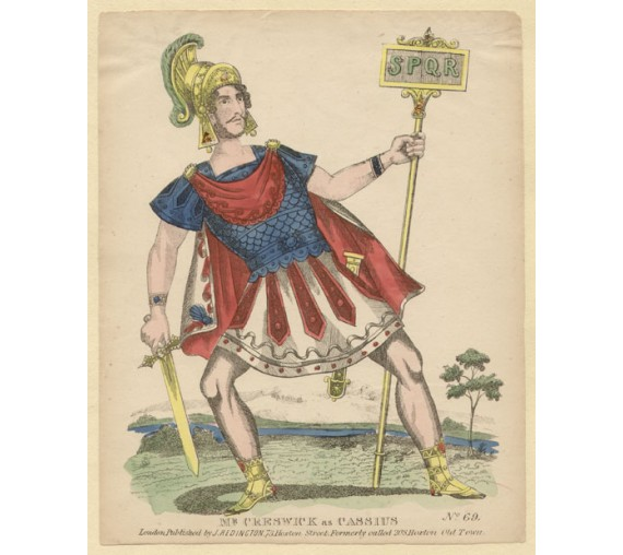 Mr Creswick as Cassius Lithograph tinsel John Redington