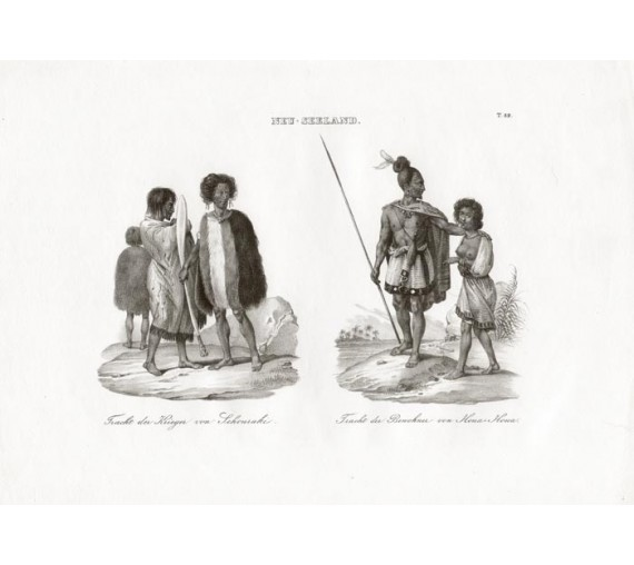 New Zealand Maoris Lithograph
