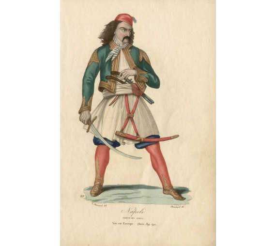 Naples Costume Greek Choubard Massard antique engraving