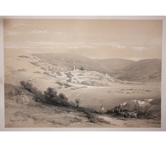 Nazareth David Roberts lithograph Holy Land folio