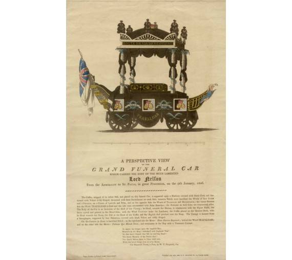 Lord Nelson Grand Funeral Car engraving