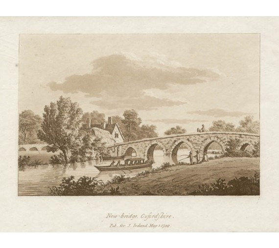 New bridge Oxfordshire Thames Samuel Ireland aquatint