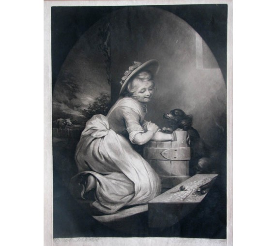 The Spell Mezzotint James Walker James Northcote