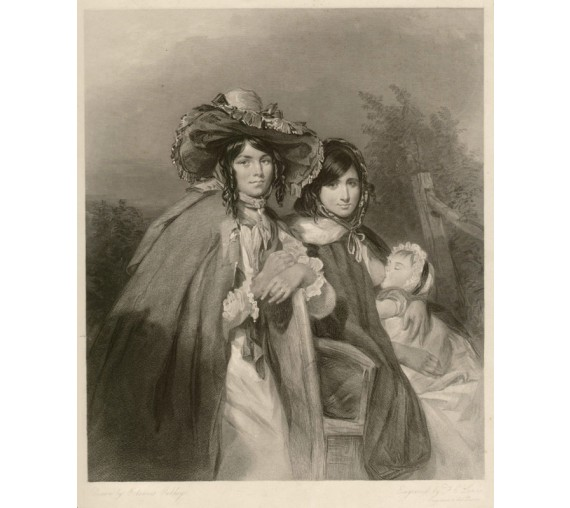 Gypsies engraving Frederick Christian Lewis Octavius Oakley