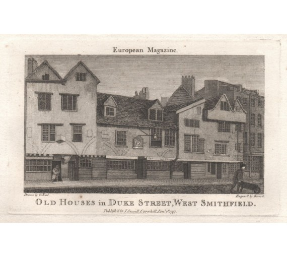 Old Houses Duke Street engraving Jefferyes Hamett ONeale