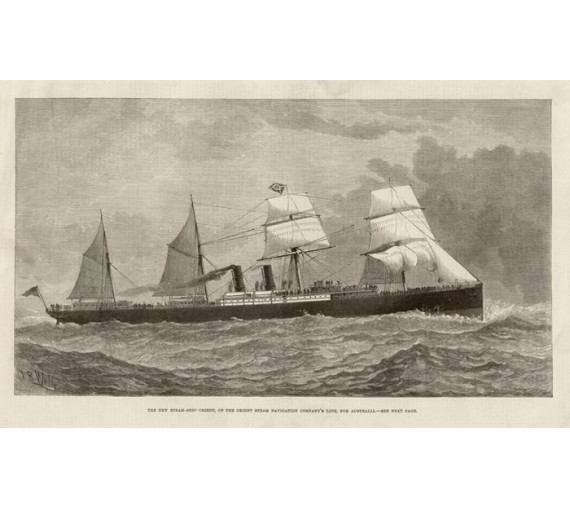 New Steam Ship Orient engraving 1879