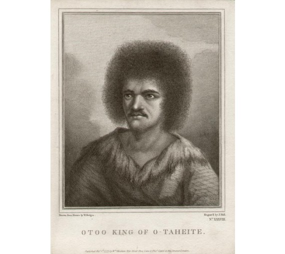 Otoo King Tahiti engraving William Hodges 1777 Cook Voyage