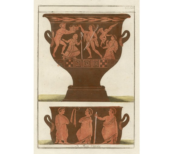 Ancient Greek Vases engraving Passeri Etruscan