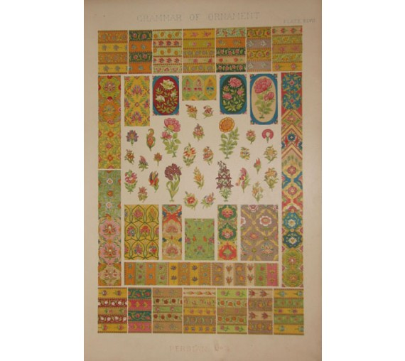 Grammar of Ornament persian owen jones chromolithograph