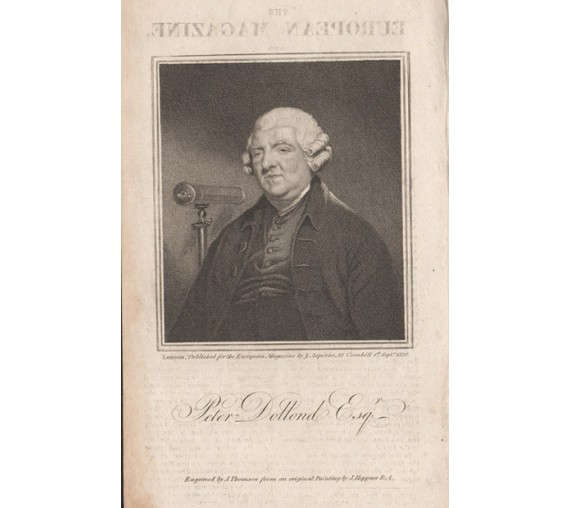 Peter Dollond portrait engraving optician telescope