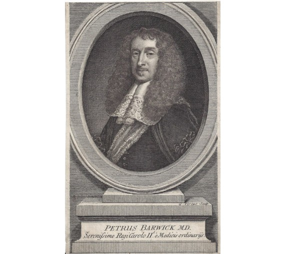 Peter Barwick portrait engraving doctor physician Vertue