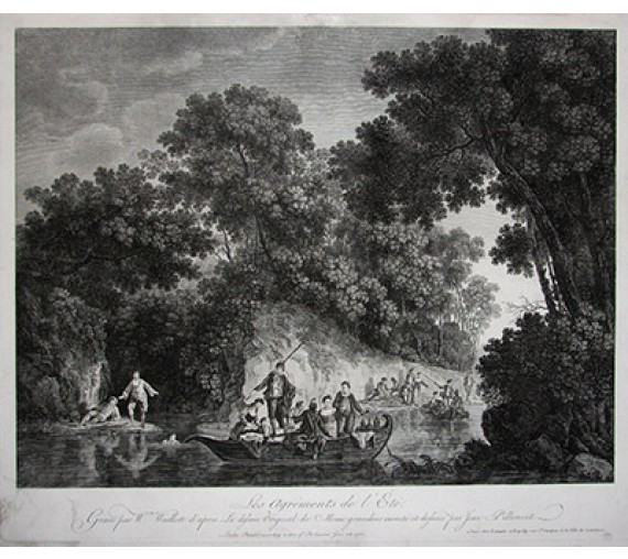 Les Agrements de l'Ete engraving William Woollett Jean Pillement