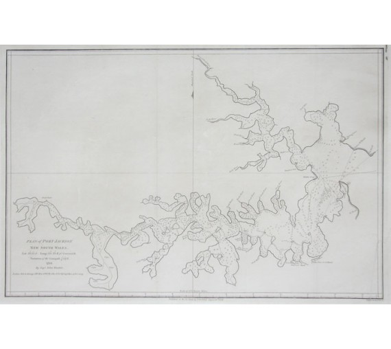 Plan Port Jackson engraving John Hunter 1789
