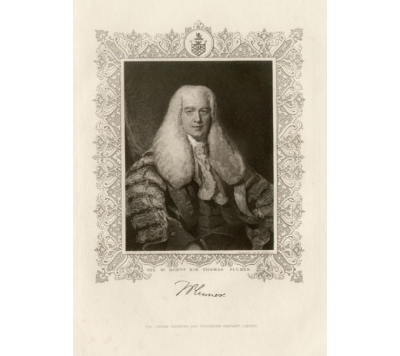 thomas plumer legal lawyer judge engraving