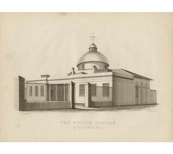 Police Office Sydney Engraving Joseph Fowles 1848