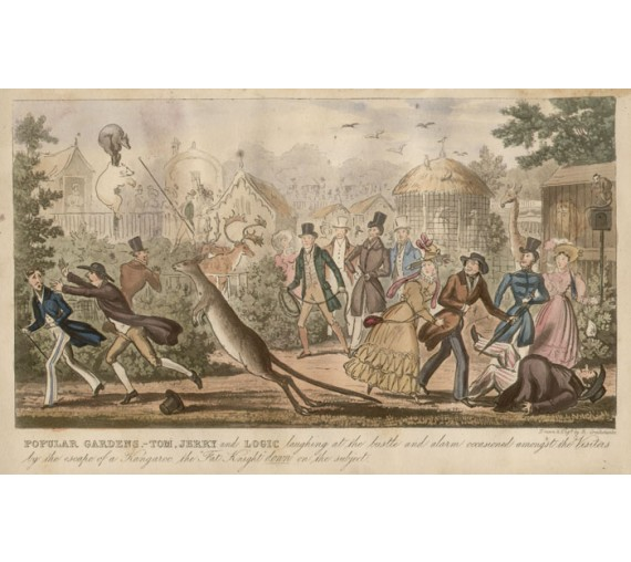 Popular Gardens Colour aquatint Isaac Cruikshank 1822