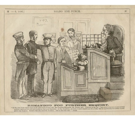 court scene melbourne punch engraving chevalier police