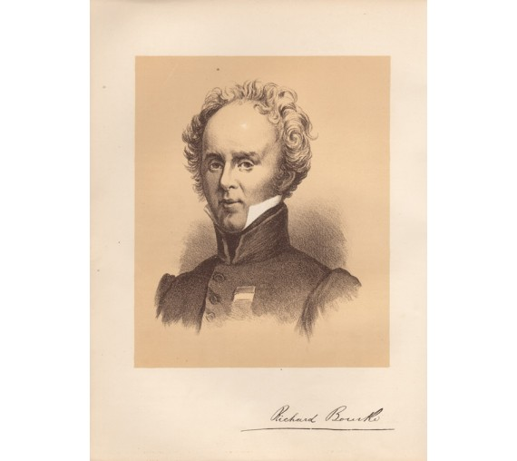 Richard Bourke portrait lithograph 1888