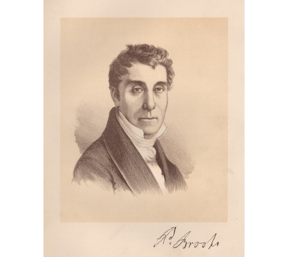 Richard Brooks portrait  lithograph 1888